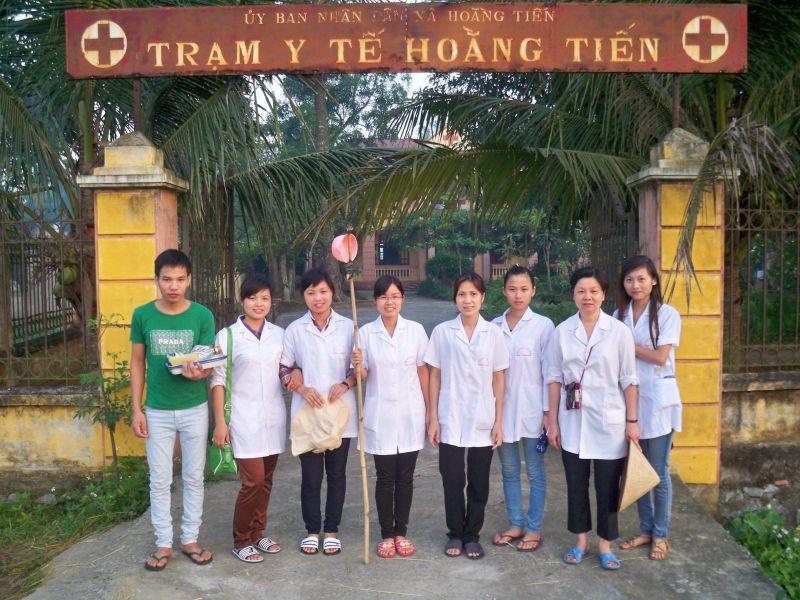 Kết quả học tập thực tế của học sinh trường TCYT Đặng Văn Ngữ tại xã Hoằng Tiến, huyện Hoằng Hóa, tỉnh Thanh Hóa tháng 5/2013